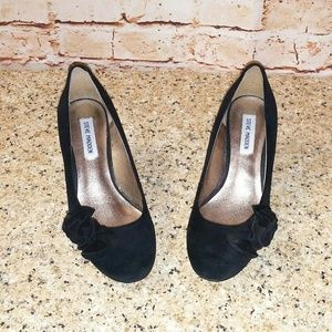 Steve Madden 8 Preti Black Pumps Kitten Heels